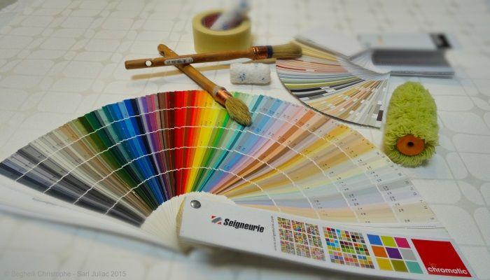 Nuanciers et outils de peintre