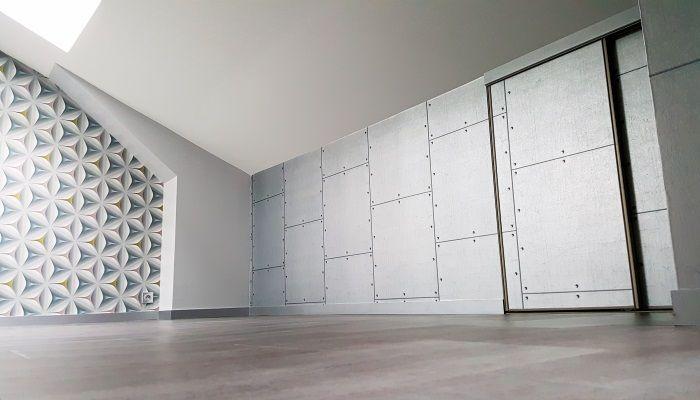 Murs en papier peint imitation plaques de métal
