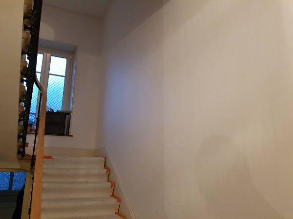 Cage d'escalier (WP) durant les travaux